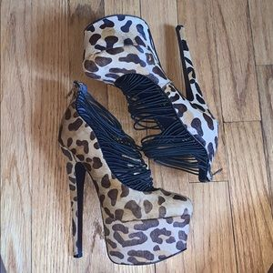 London Trash Leopard Print High Heels